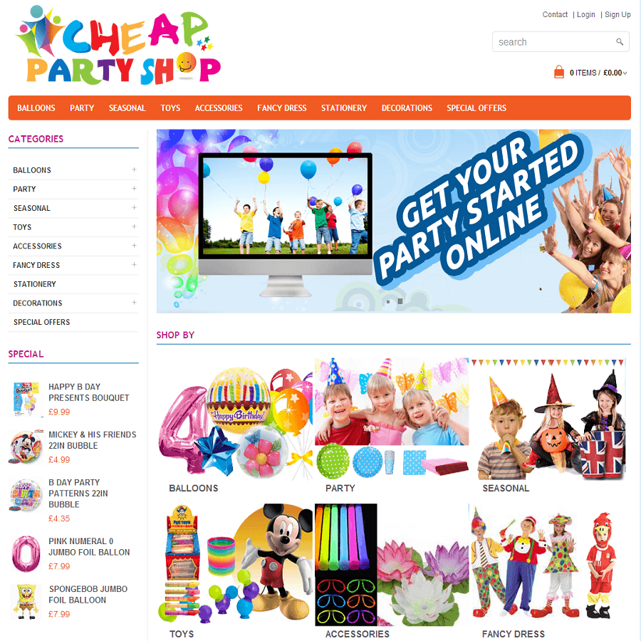 Cheap party for Websites to shop online cheap